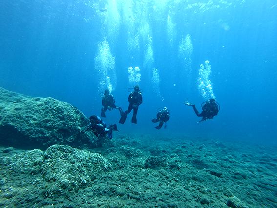 Scuba diving Santorini Greece